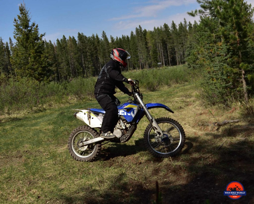 Rukka ROR test Drive on Husaberg 570 Dirt Bike