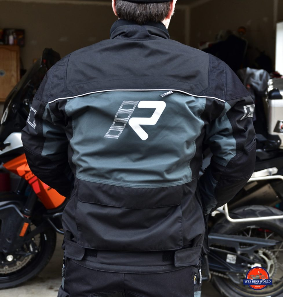 Rukka ROR Jacket Full Back View As Worn By Model For Fit
