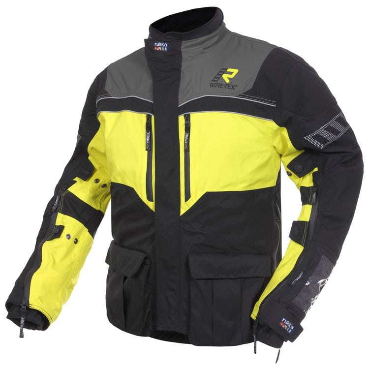 Rukka ROR Jacket Gore-Text In Hi-Viz Yellow Coloring and Reflective Material