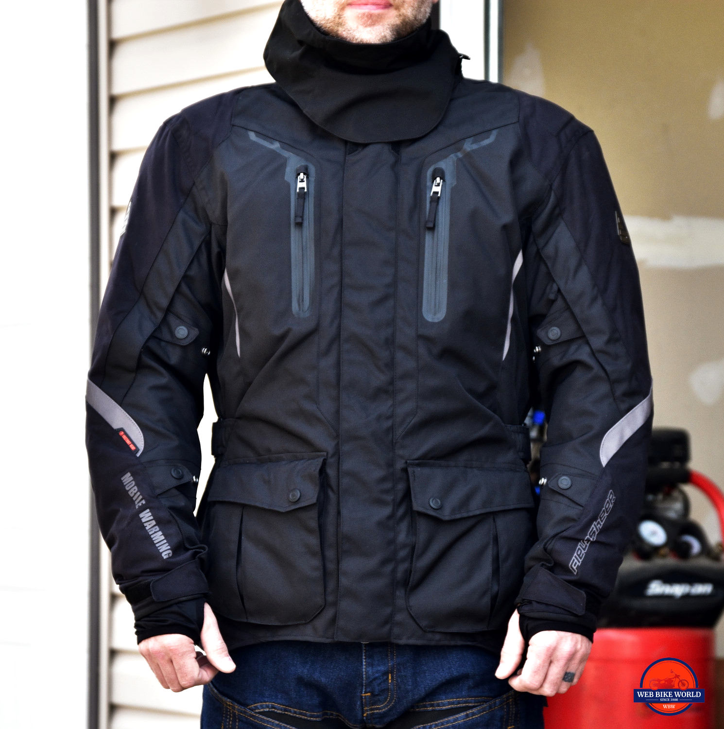Fieldsheer Hydro Heat Textile Jacket Full Frontal View On Model