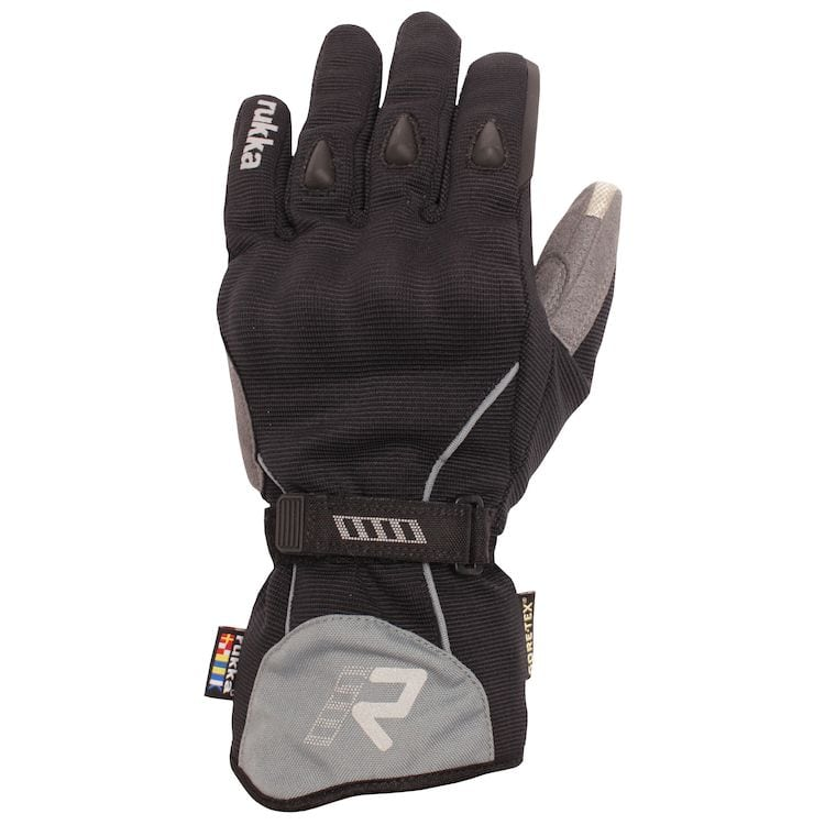 Rukka Virium Gore-Tex X-Trafit Gloves Full Top View Left Glove