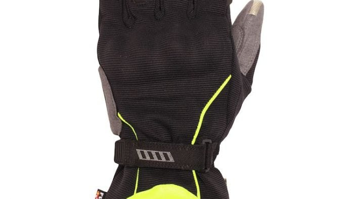 Rukka Virium Gore-Tex X-Trafit Gloves Color Alternative in Hi Visibility Yellow Left Glove Full View