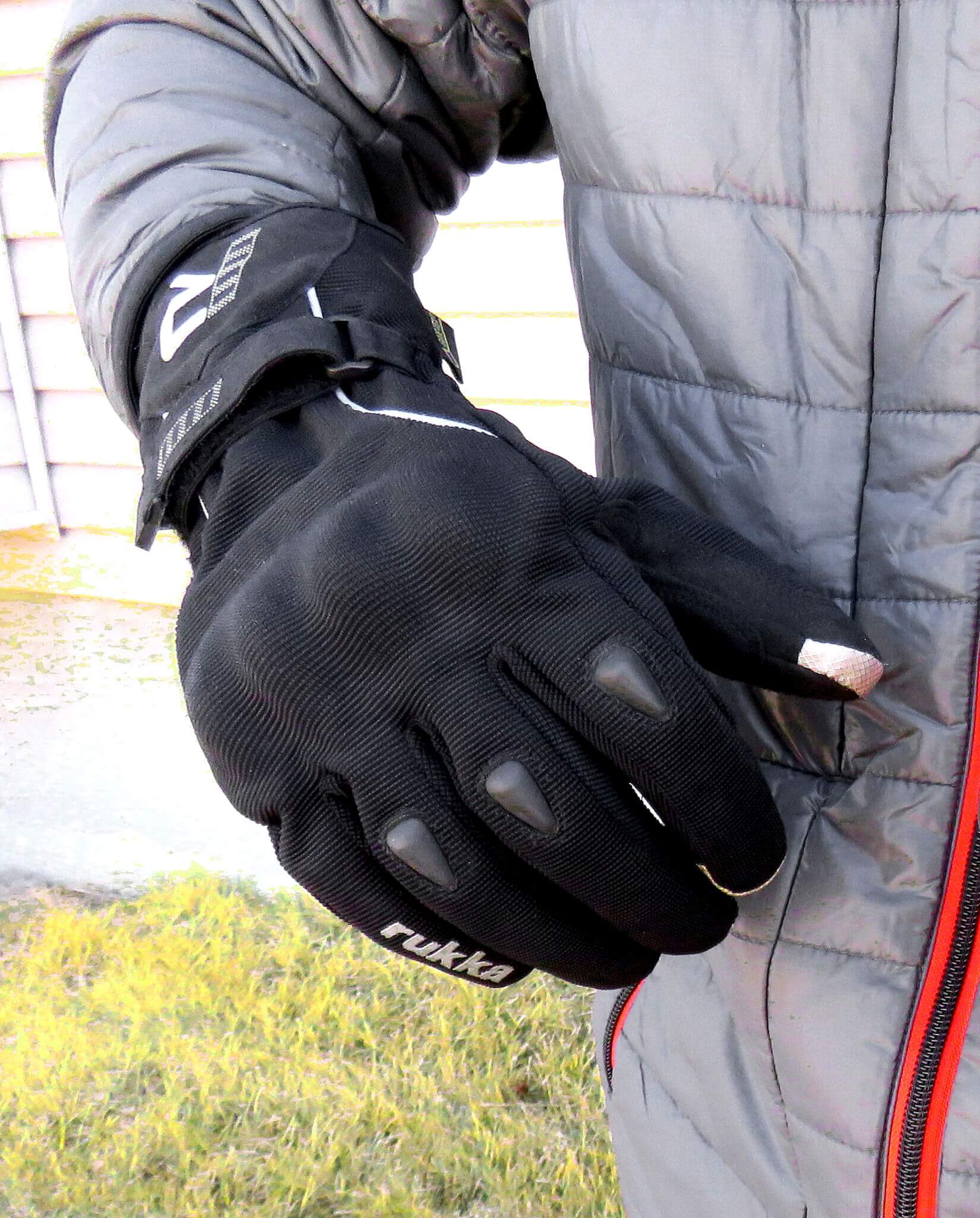 Rukka Virium Gore-Tex X-Trafit Gloves As Shown On Model