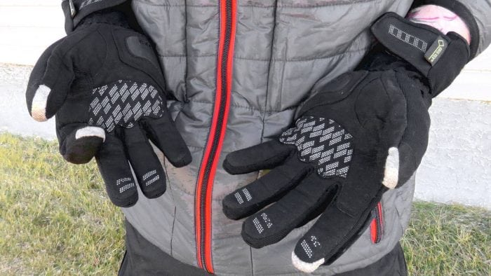 Rukka Virium Gore-Tex X-Trafit Gloves White Fingertip Grips and Palms