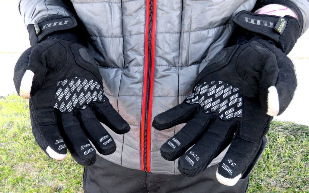 Rukka Virium Gore-Tex X-Trafit Gloves Fingertips and Palm Material Closeup