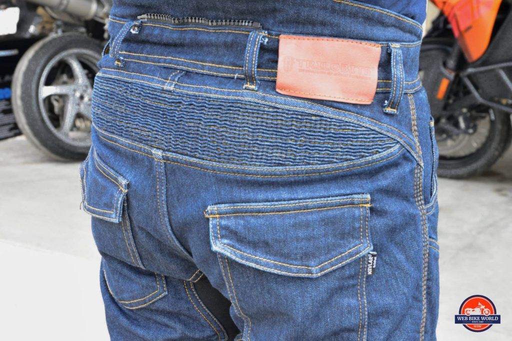 Trilobyte Probut X-Factor Cordura Denim Jeans Closeup Backside