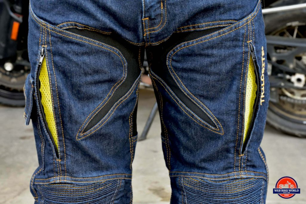 Trilobyte Probut X-Factor Cordura Denim Jeans Leg and Waist Closeup
