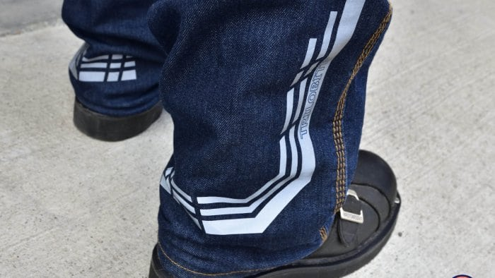 Trilobyte Probut X-Factor Cordura Denim Jeans Closeup of Ankle Cuffs