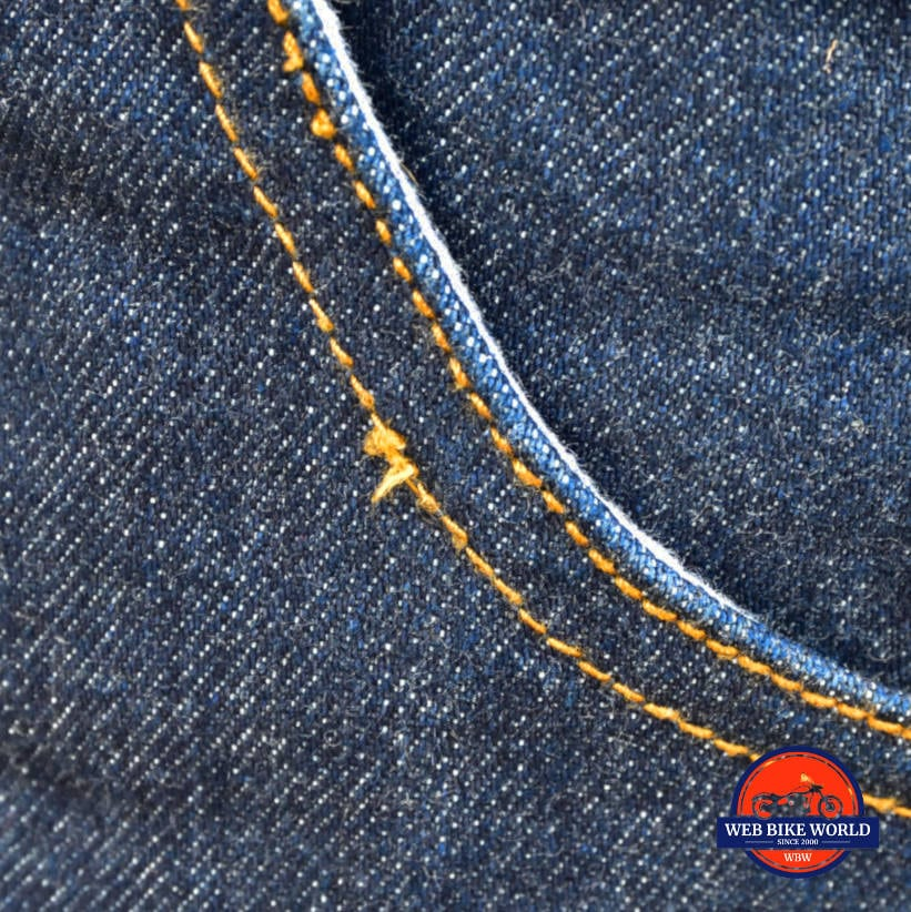 Trilobyte Probut X-Factor Cordura Denim Jeans Closeup of Material and Stitching