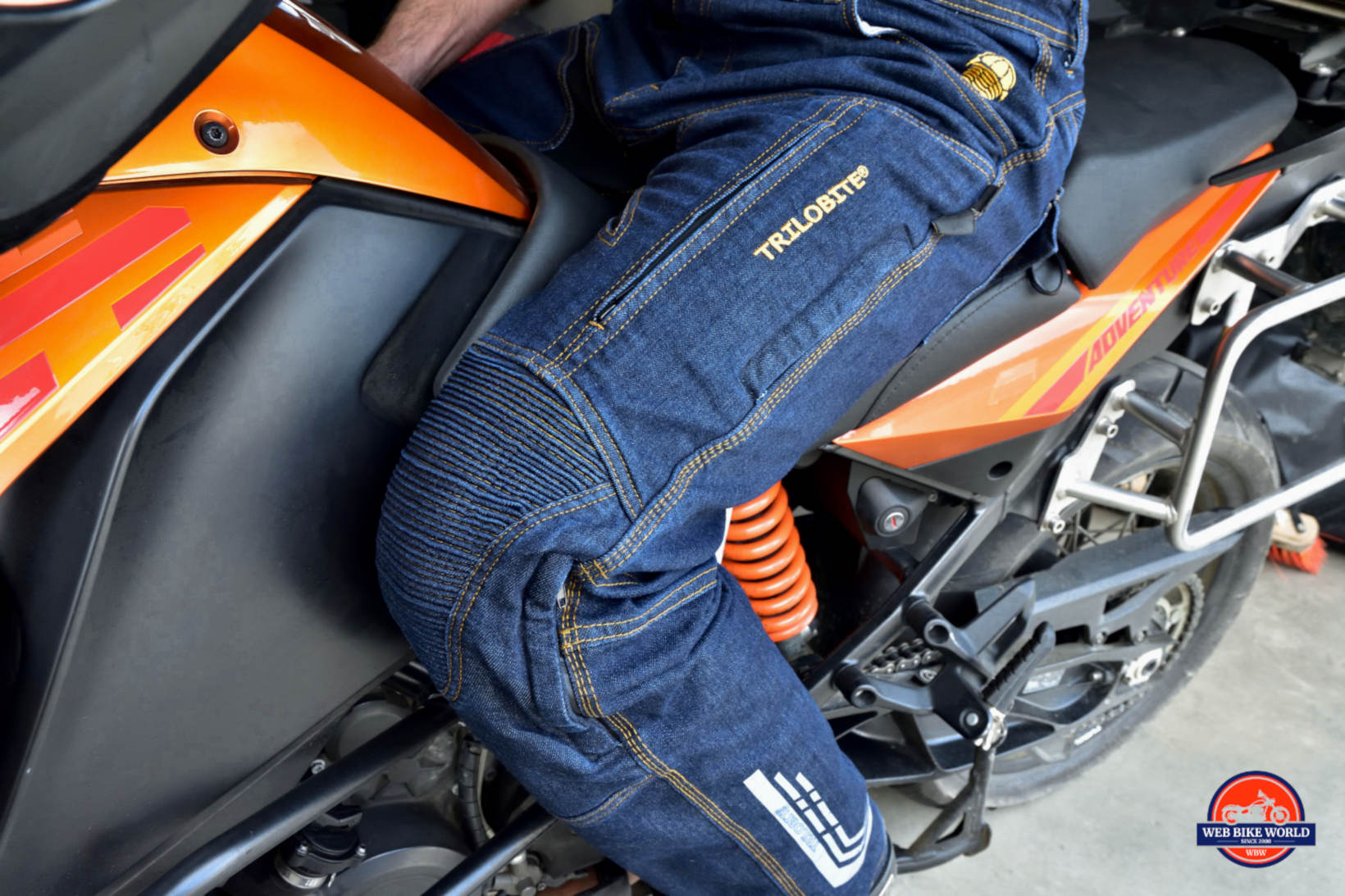 Trilobyte Probut X-Factor Cordura Denim Jeans on Bike