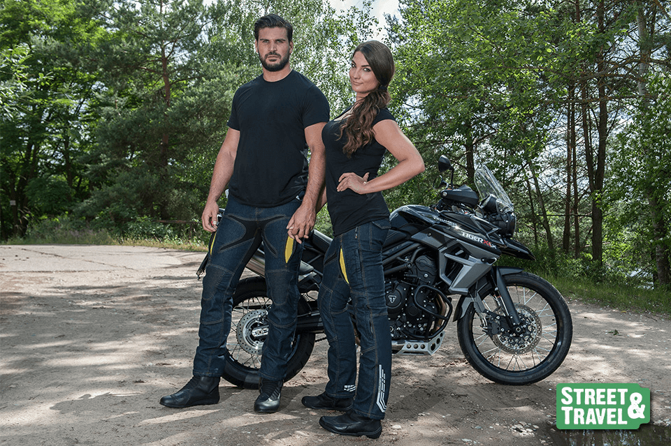 Trilobyte Probut X-Factor Cordura Denim Jeans As Shown on Male & Female Model