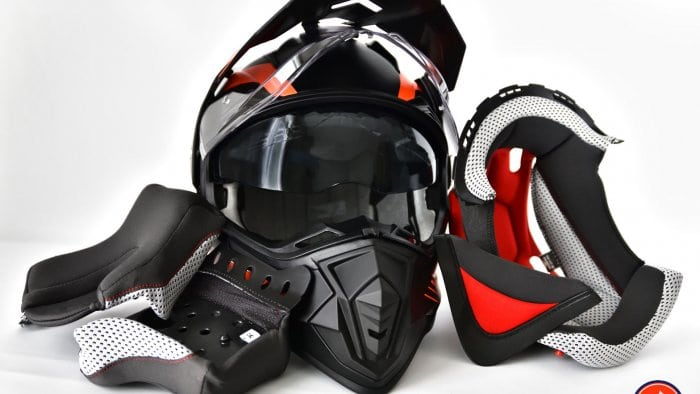 Vemar Kona Graphic Helmet Full Gear Set