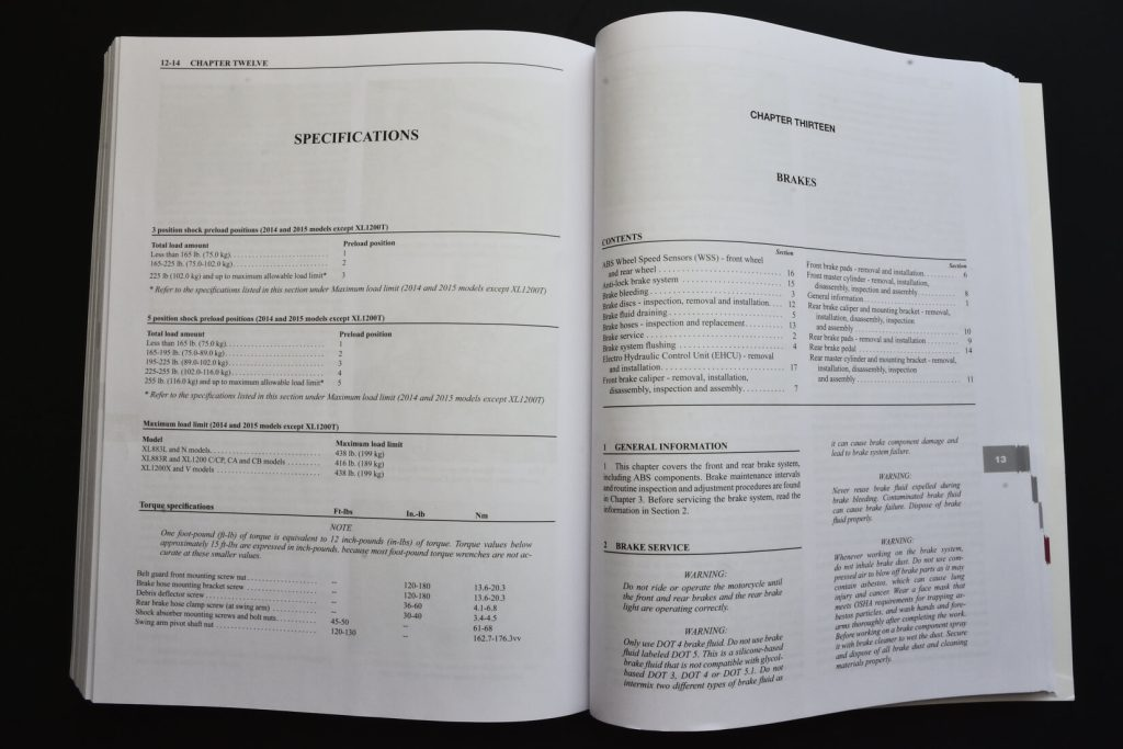 Clymer Repair Manual Open Book