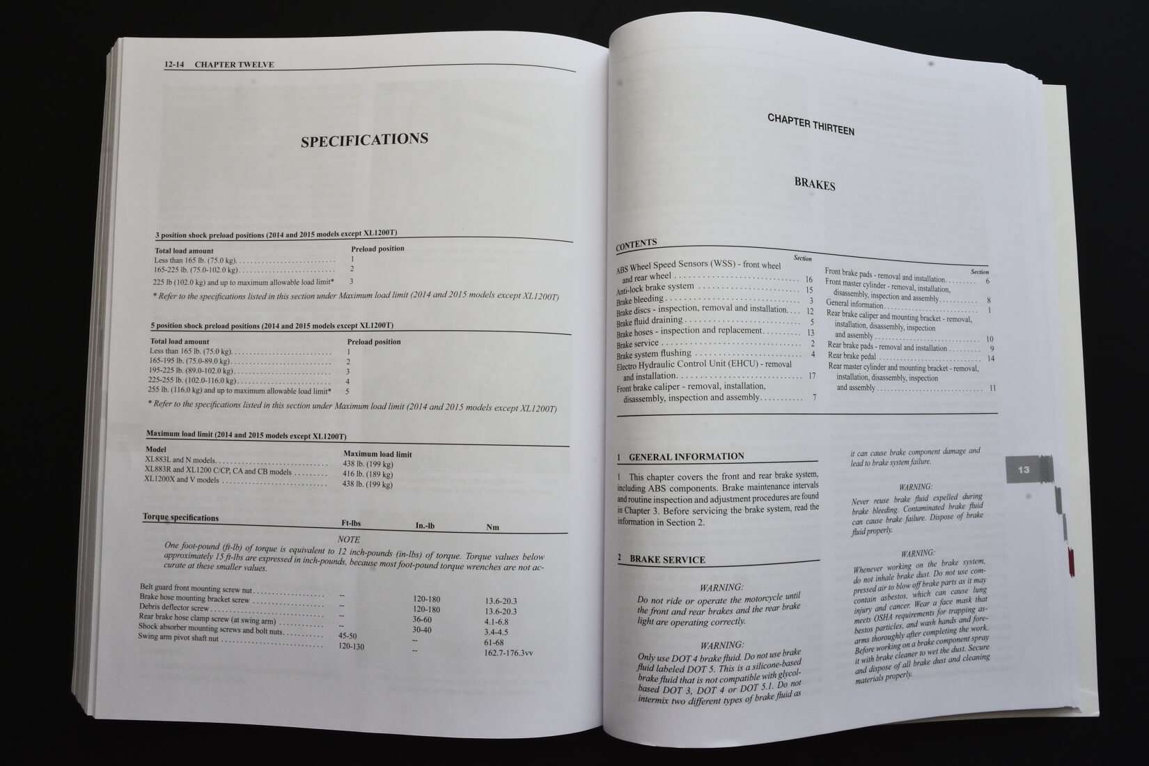 Clymer Repair Manual Harley Davidson Sportster 2014 Xl1200v Wiring Diagram Open Book