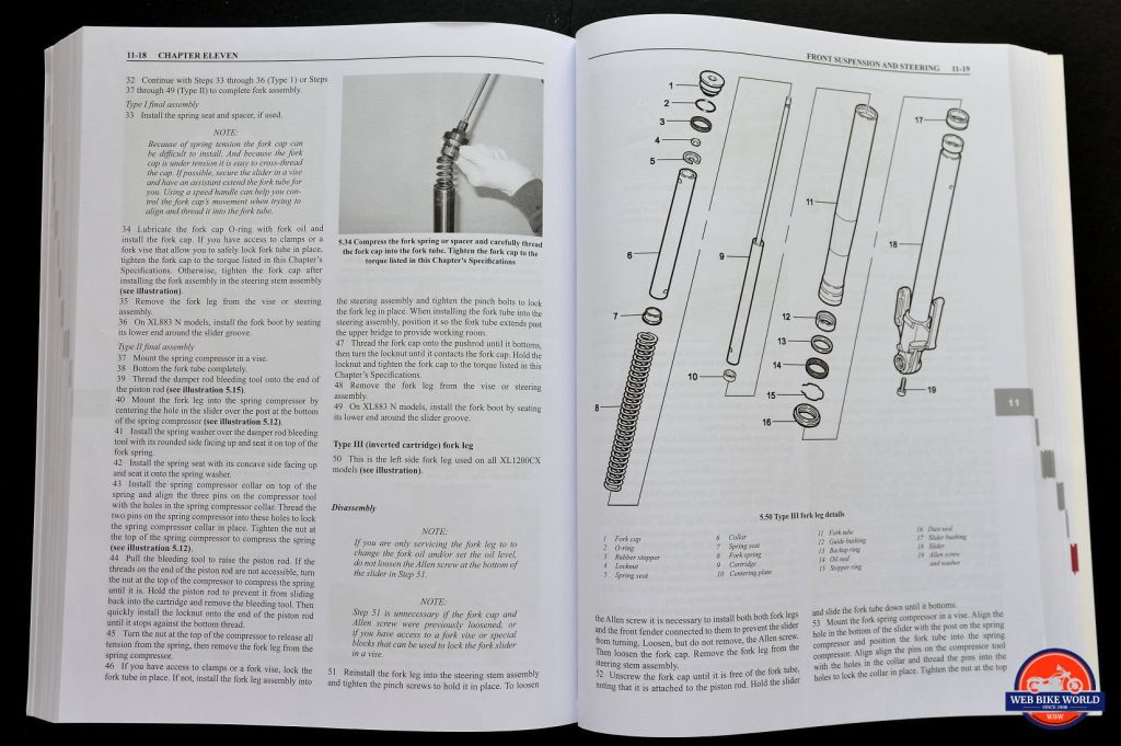 Clymer Repair Manual Open Book Pages