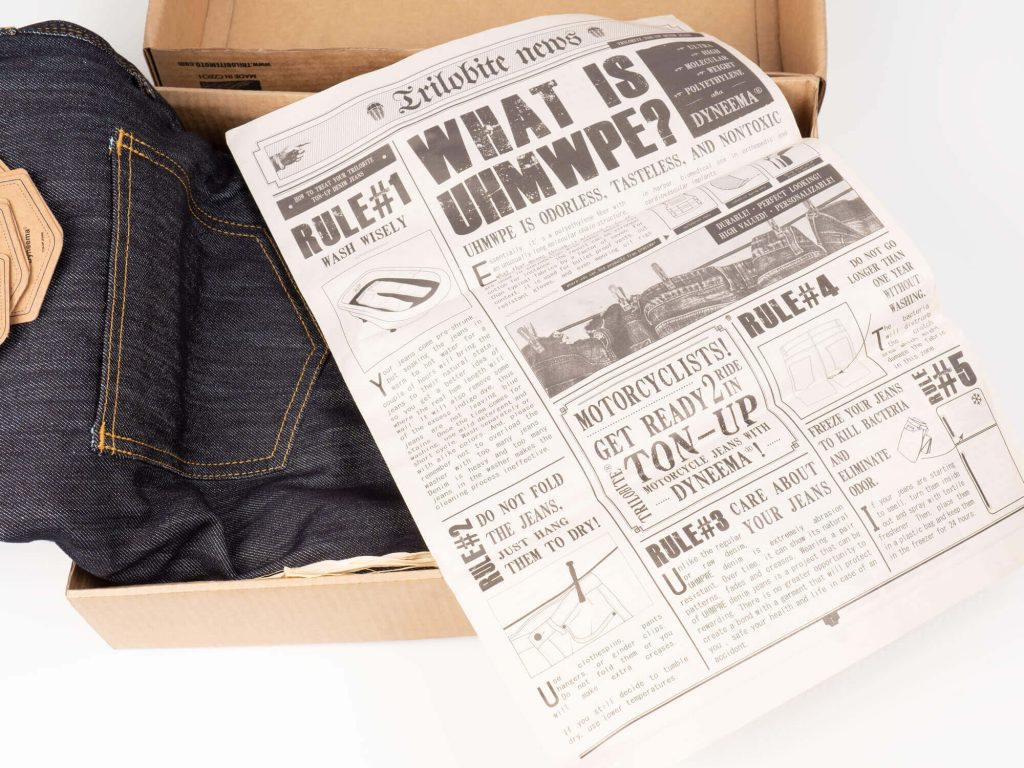 Trilobite 1860 Ton-Up Jeans + Newspaper Packaging