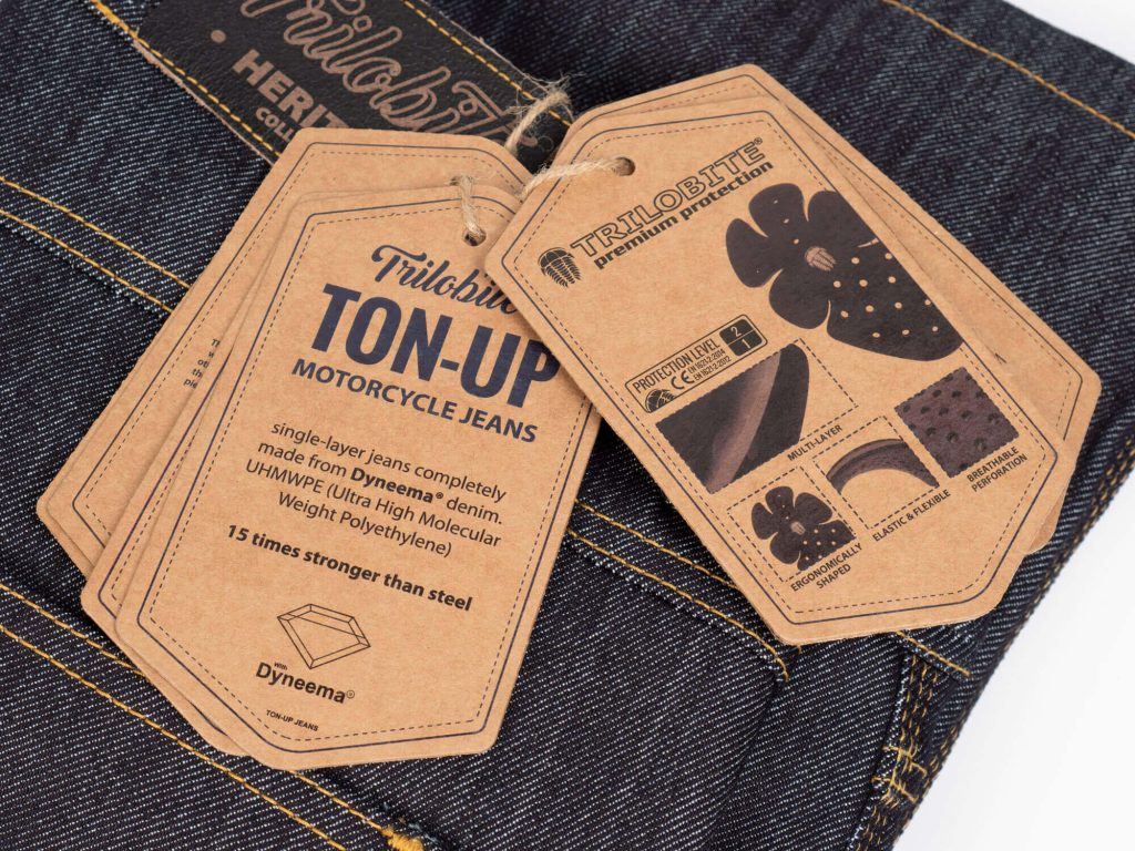 Trilobite 1860 Ton-Up Jeans Tag Closeup