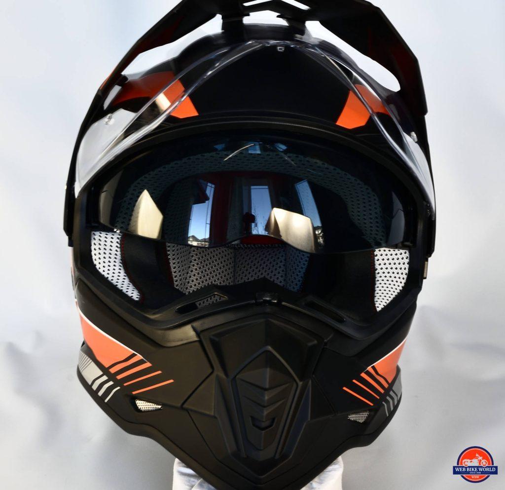 Vemar Kona Graphic Helmet Closeup Front Visor View