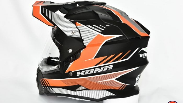 Vemar Kona Graphic Helmet Backside View