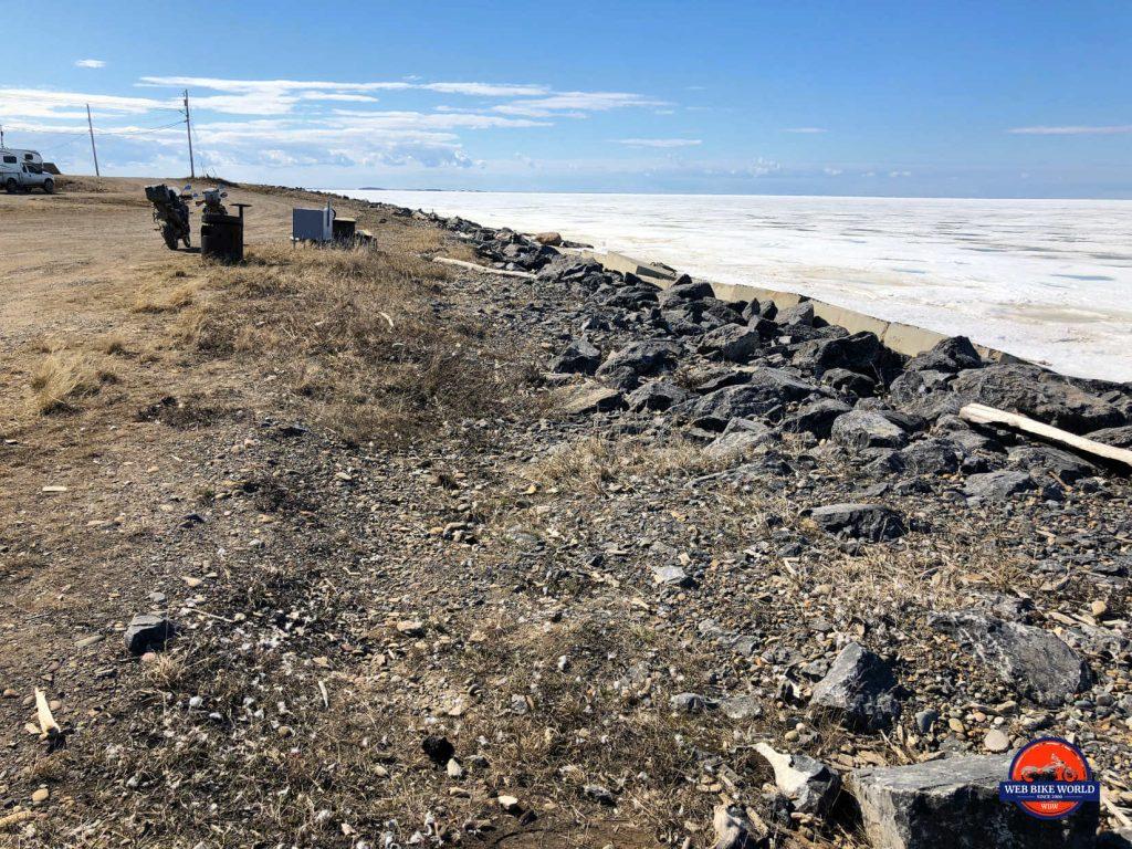 Tuktoyaktuk rocky shoreline
