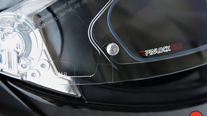 AGV Sportmodular Carbon Gloss helmet Pinlock visor insert.