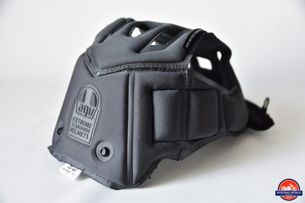 AGV Sportmodular Carbon Gloss helmet crown comfor liner.