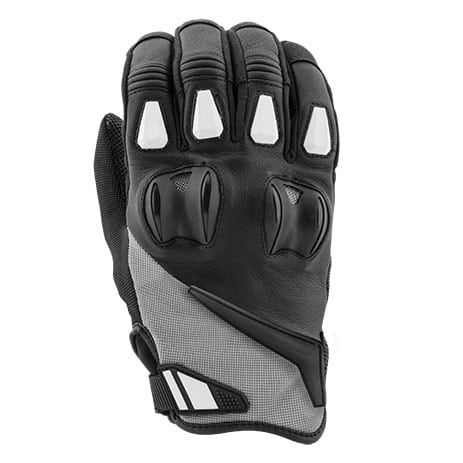 Joe Rocket Canada Atomic Textile Gloves in White