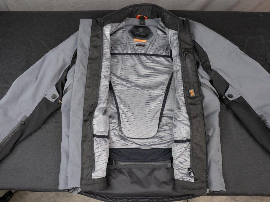 REAX Ridge Textile Jacket Full Unzipped View