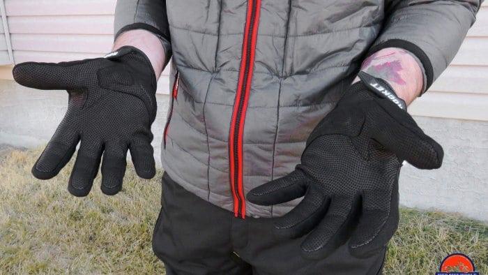 Joe Rocket Canada Atomic Textile Gloves Palms Up Detail