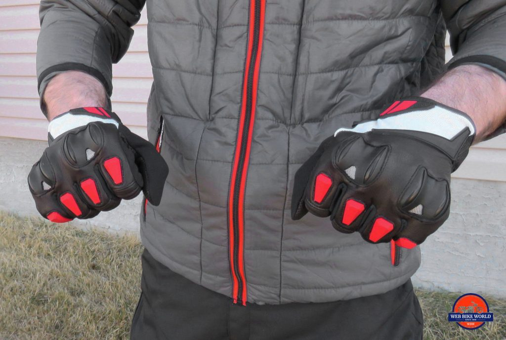 Joe Rocket Canada Atomic Textile Gloves Finger Armor and Vents