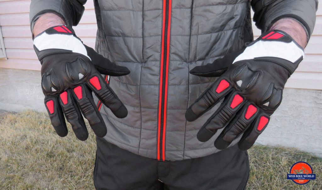 Joe Rocket Canada Atomic Textile Gloves Knuckle Up Detail