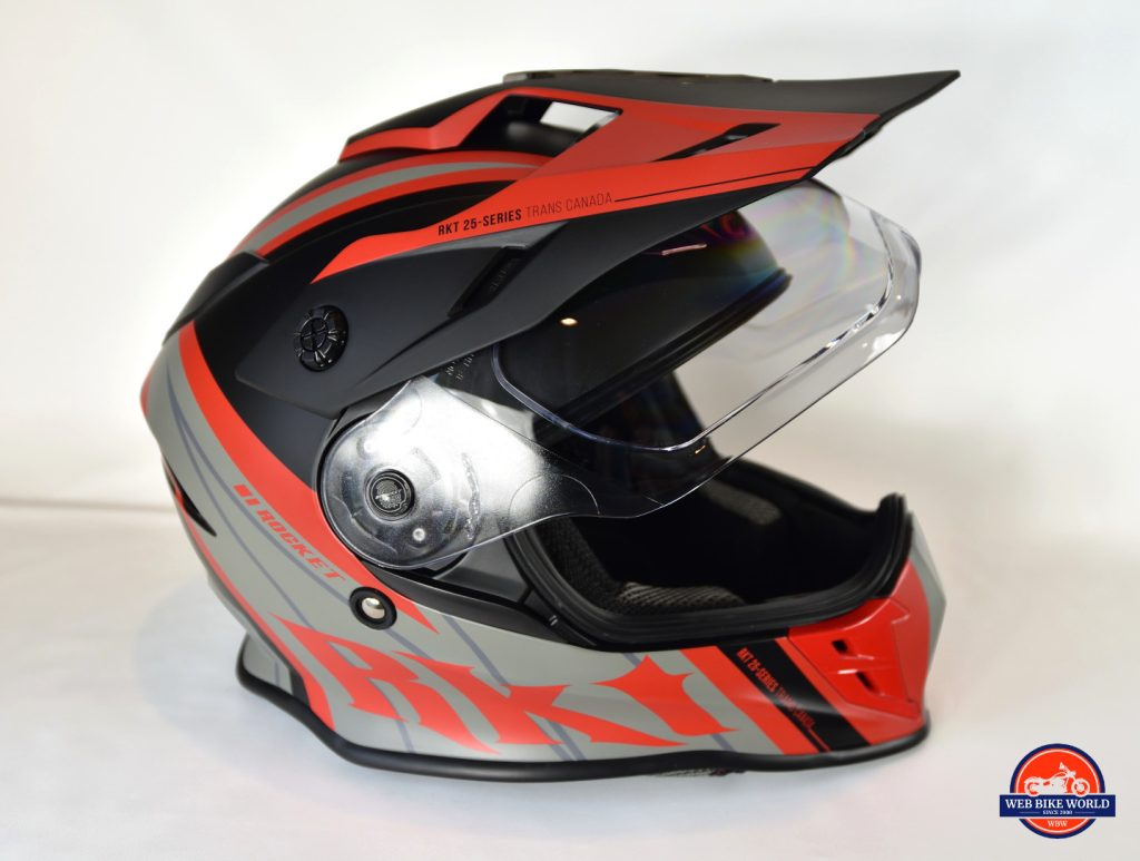 Joe Rocket Canada RKT-25 TransCanada Helmet Side View with Visor Up