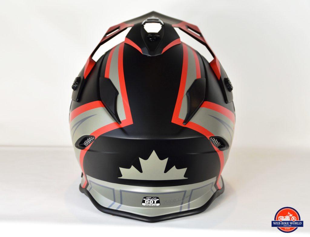 Joe Rocket Canada RKT-25 TransCanada Helmet Back Detailing