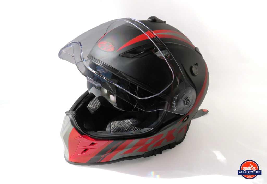 Joe Rocket Canada RKT-25 TransCanada Helmet Off-side View with Visor Up
