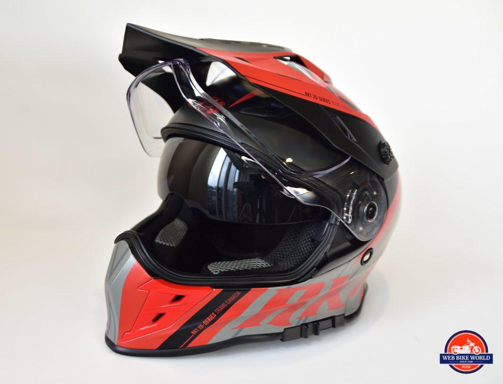 Joe Rocket Canada RKT-25 TransCanada Helmet Side View with Visor/Sun Lens Closed
