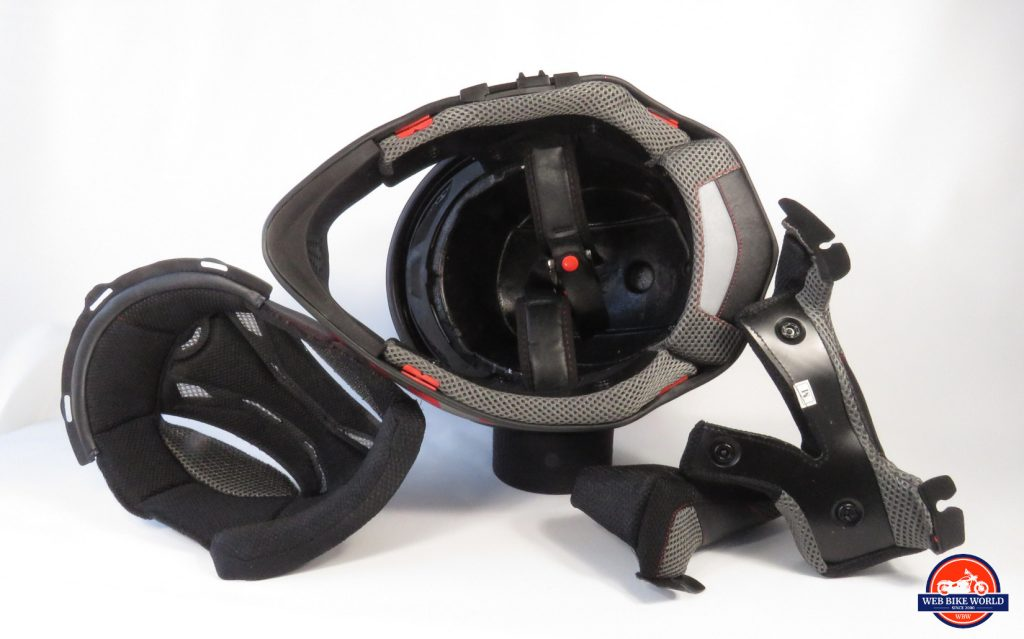 Joe Rocket Canada RKT-25 TransCanada Helmet Underside with Accessories