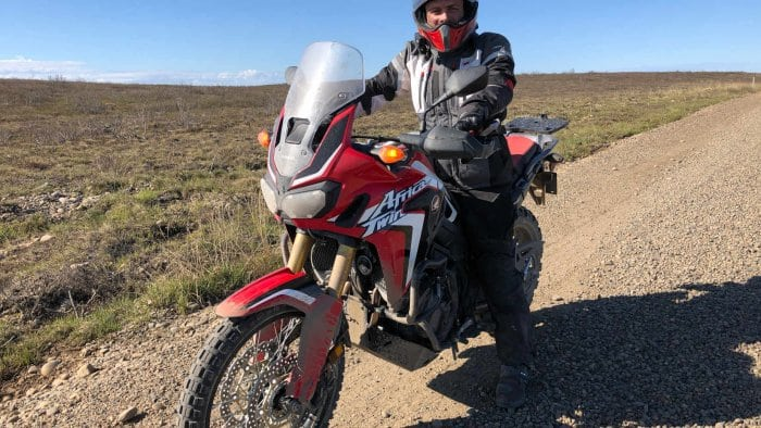 Joe Rocket Canada Alter Ego 13 Pants On Model with Motorcycle