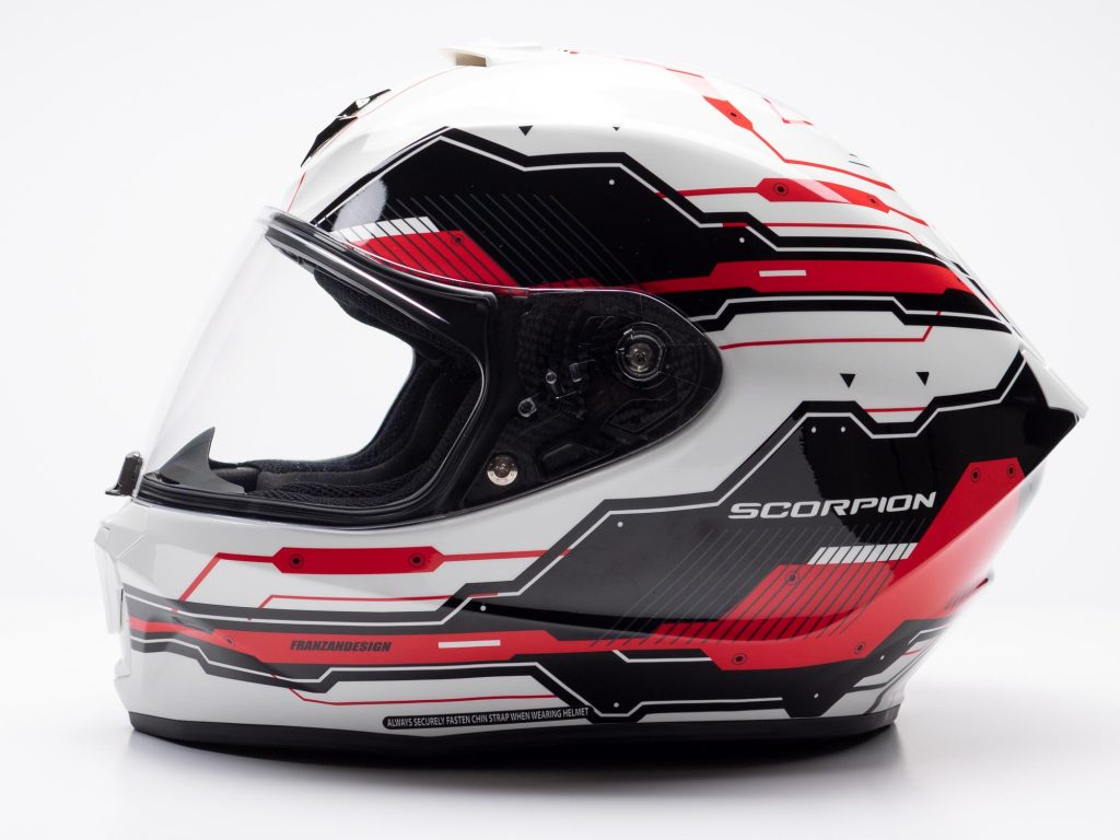 Scorpion EXO R420 Helmet Left Side View