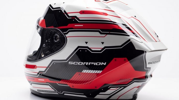 Scorpion EXO R420 Helmet Backside View