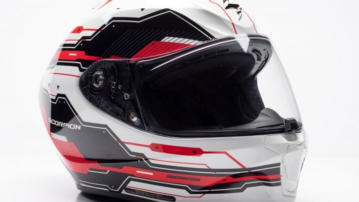 Scorpion EXO R420 Helmet Off-side View
