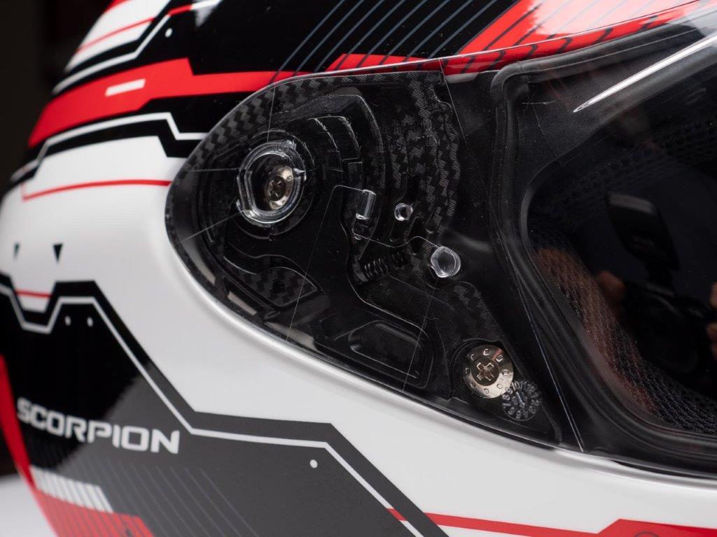 Scorpion EXO R420 Helmet Face Shield Closeup