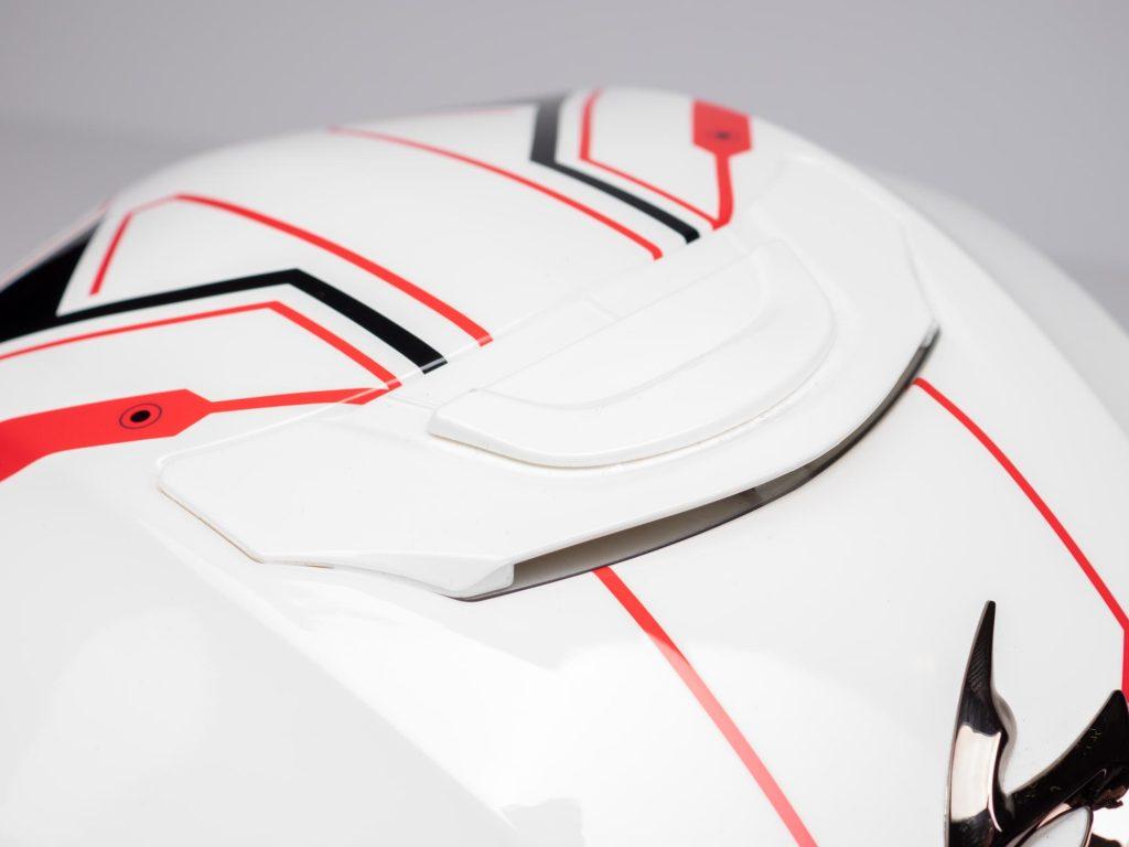 Scorpion EXO R420 Helmet Closeup of Topside Ventilation