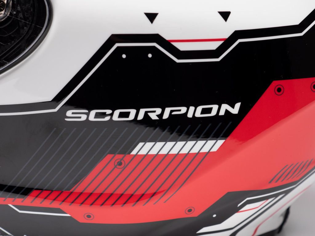 "Scorpion EXO R420 Helmet Side Branding ""Scorpion"""