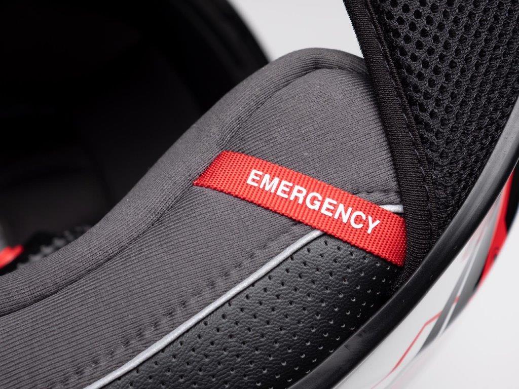 Scorpion EXO R420 Helmet Emergency Tab
