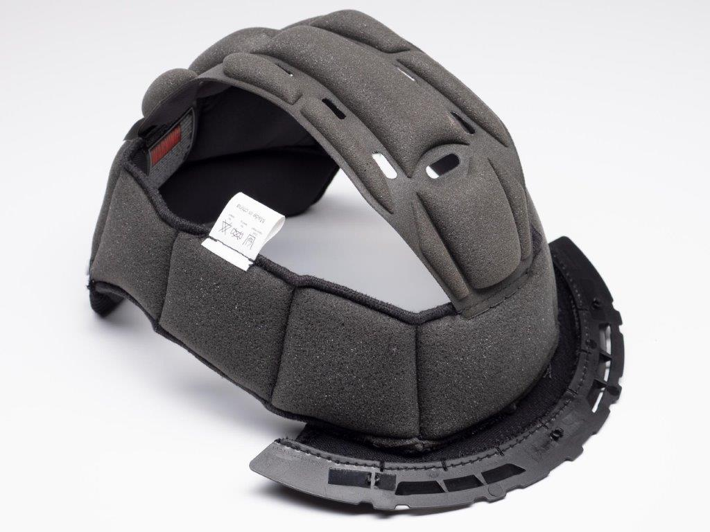 AGV Sportmodular Carbon Gloss helmet crown comfort liner from the side.