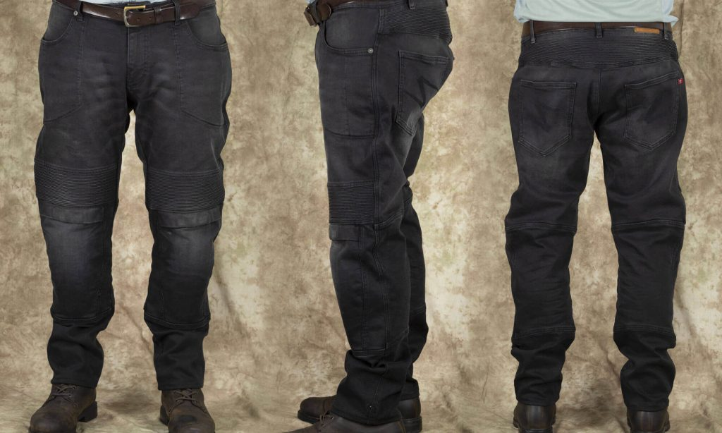 Pando Moto Karl Devil Motorcycle Riding Jeans Shots of Different Jean Angles