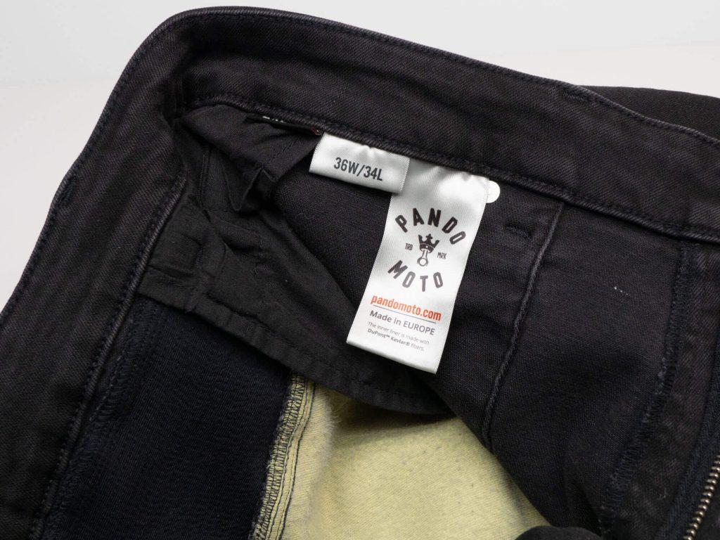 Pando Moto Karl Devil Motorcycle Riding Jeans Closeup Waistline Tags