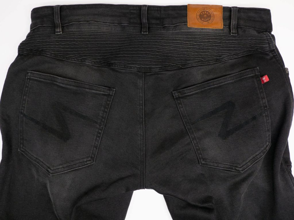 Pando Moto Karl Devil Motorcycle Riding Jeans Closeup Rear