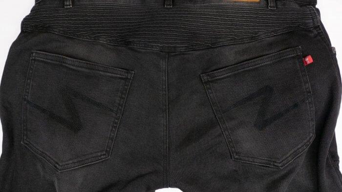 Pando Moto Karl Devil Motorcycle Riding Jeans Closeup Rear