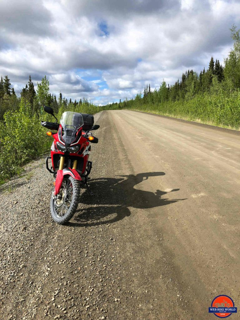 2017 Honda Africa Twin on the Dempster Highway.